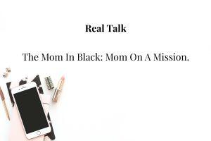 the mom in black